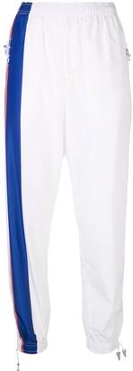 Adam Selman Sport Logo Stripe Track Pants