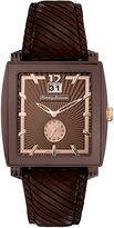 Tommy Bahama Watch, Men's Swiss Dark Brown Leather Strap 40mm TB1125