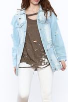 Hot & Delicious Distressed Light Denim Jacket
