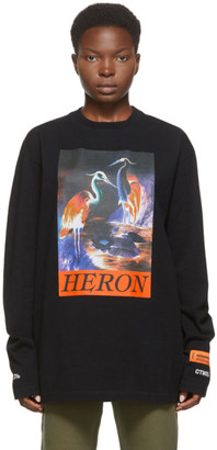 Heron Preston Black Heron Times Long Sleeve T-Shirt