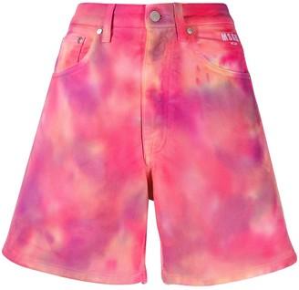 MSGM Tie-Dye Denim Shorts