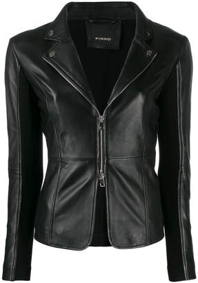 Pinko tailored leather jacket