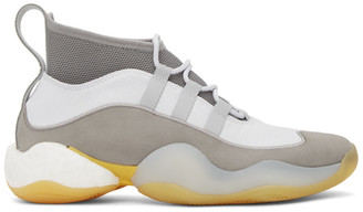 adidas Bed J.W. Ford BED J.W. FORD Grey and White Edition Crazy BYW High-Top Sneakers