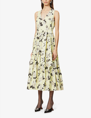 Erdem Mimosa floral-print cotton midi dress