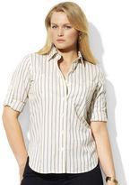 Lauren Ralph Lauren Cotton Roll-Sleeve Shirt