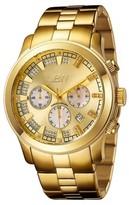JBW Men's JB-6218-E Delano Japanese Movement Stainless Steel Real Diamond Watch - Gold