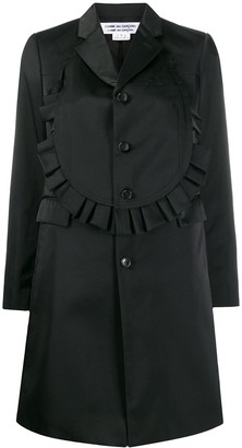 Comme des Garcons Frilled Single-Breasted Coat
