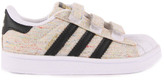 adidas Flecked Canvas Velcro Superstar Trainers Beige
