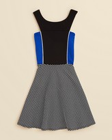 Sally Miller Girls' Color Block Dot Dress - Sizes S-XL