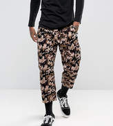 Reclaimed Vintage Inspired Relaxed Trousers In Cord Camo
