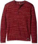 Dickies Men's Jersey Button Henley Sweater