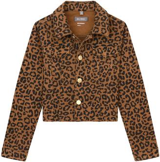 DL1961 Girl's Manning Leopard-Print Jacket, Size S-L
