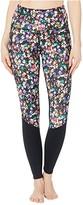 Skechers Excape Printed High-Waist Leggings (Black/Multi) Women's Casual Pants