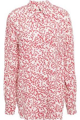 Ganni Goldstone Floral-print Crepe Shirt