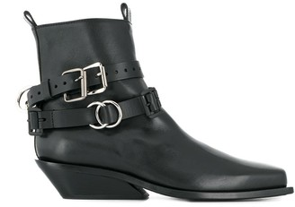 Ann Demeulemeester Buckle Strap Ankle Boots