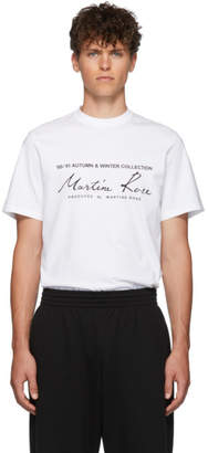 Martine Rose White Classic Logo T-Shirt