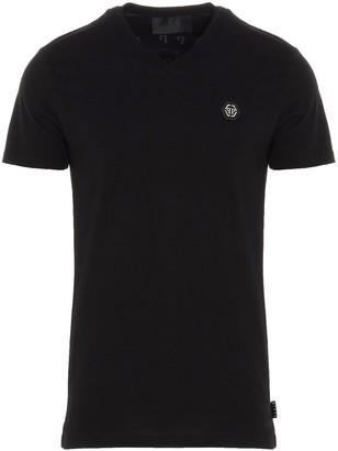 Philipp Plein SS Skull V-Neck T-Shirt