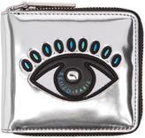Kenzo Silver Square Eye Wallet