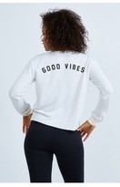 Spiritual Gangster Good Vibes Arch Crop Sweatshirt