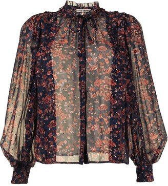 Ulla Johnson All-Over Floral Blouse