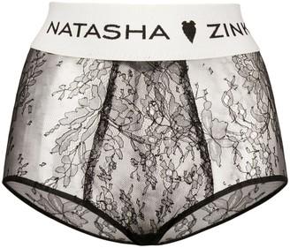 Natasha Zinko Banded Lace High Waist Briefs