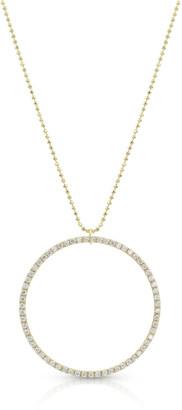 Dominique Cohen 18k Yellow Gold Diamond Halo Pendant Necklace (Large)