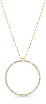 Dominique Cohen 18k Gold Diamond Hoop Pendant Necklace (Large)