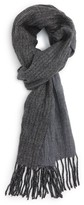 John Varvatos Men's Herringbone Wool Scarf