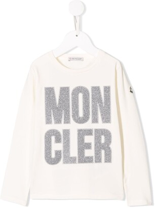 Moncler embroidered logo top