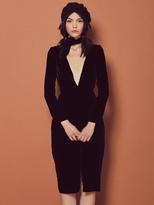 For Love & Lemons Collette Midi Dress in Noir