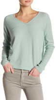 Vince Long Sleeve V-Neck Cashmere Pullover
