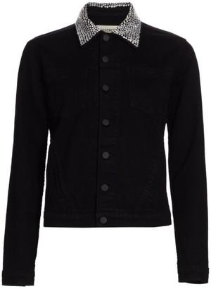 L'Agence Celine Embellished Collar Jacket