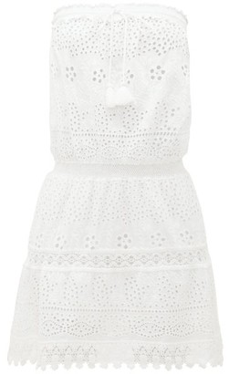 Melissa Odabash Iris Broderie-anglaise Cotton Mini Dress - Womens - White