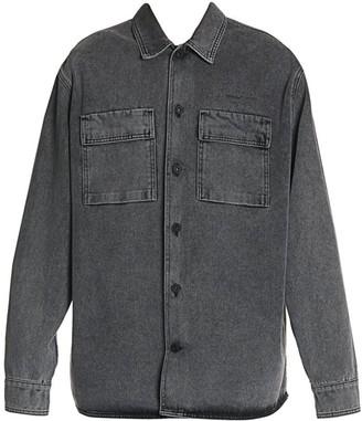 Off-White Off White Arrow Oversized Denim Shirt