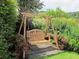 Sitting Spiritually Tranquillity Oak Fan Back Swing Seat