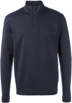 HUGO BOSS henley sweatshirt - men - Cotton/Polyamide - M