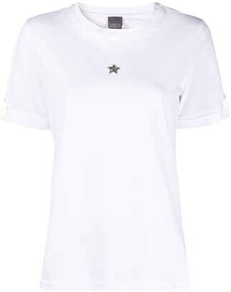 Lorena Antoniazzi star embroidered T-shirt