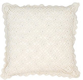Pine Cone Hill Lorient Scalloped Floral Crochet Square Pillow