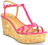 Kate Spade Theodora - Pink Patent Leather Cork Wedge