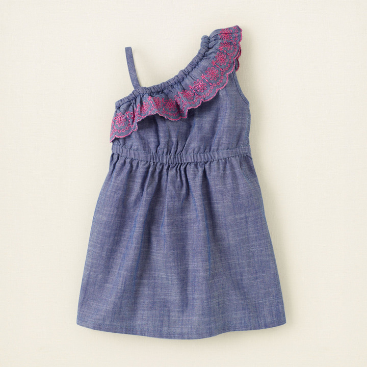 Children's Place One-shoulder chambray dress