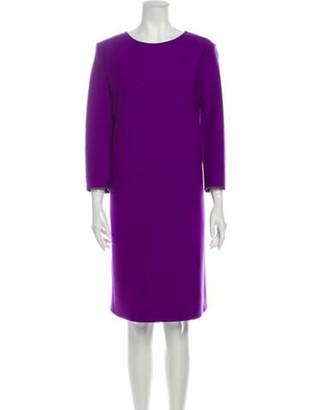 Dorothee Schumacher Scoop Neck Knee-Length Dress Purple