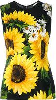 Dolce & Gabbana sunflower print tank top - women - Viscose - 38