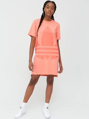 adidas Large Logo Dress - Pink