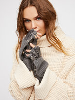 Free People Silver Lining Pop-Top Glove