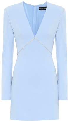 David Koma Embellished crepe minidress