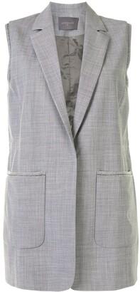 Lorena Antoniazzi Pocket-Detail Longline Waistcoat