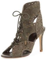 Joie Aeron Suede Lace-Up Sandal, Ash Green
