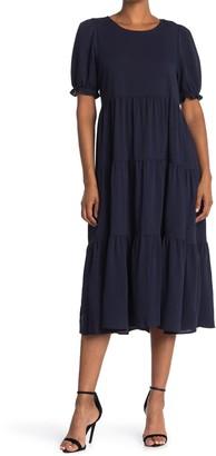 Hyfve Tiered Puff Sleeve Maxi Dress