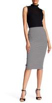 Max Studio Striped Ottoman Skirt