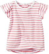 Carter's Baby Girl Flutter Sleeve Striped Top